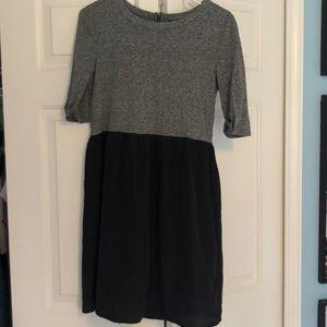 Topshop Black and Grey Dress